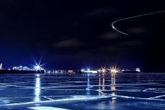 Toronto Harbour frozen over