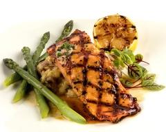 Salmon and asparagus - food