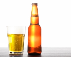 Beer bottle with glass - food and drink