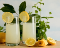 Lemonade with lemons - food and drink