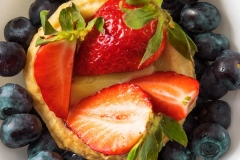 berries and custard tart food