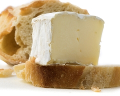food Brie cheese on baguette