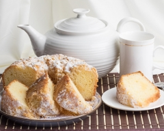 food Lemon cake with tea