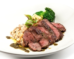 food grilled lamb sirloin