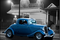 1934 Ford at 1933 Dupont Street Gas Station