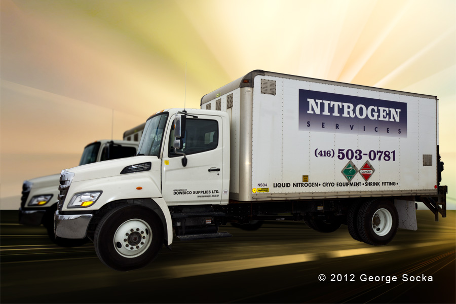 Nitrogen Delivery product photography by George Socka