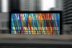 Colorful building facade